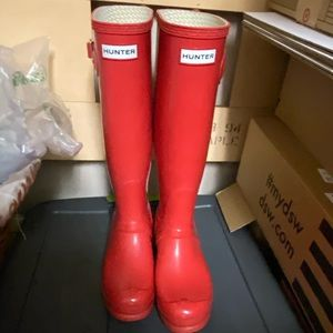Hunter boots size 38